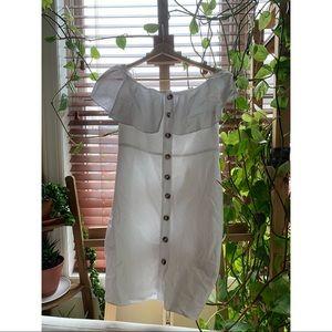 Off the Shoulder White Zara Dress